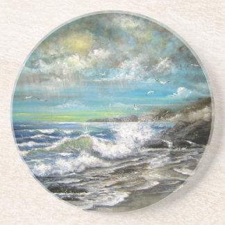 Seascape Design Drink Coaster