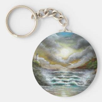 Seascape Dusk Design Key Chains