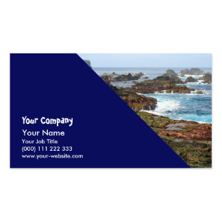 Seascape from Azores islands Business Card Templates