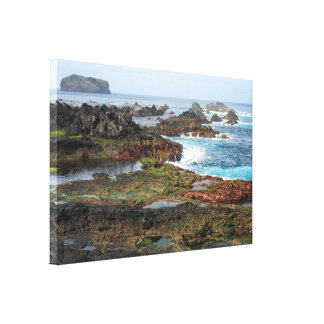 Seascape from Azores islands Canvas Print