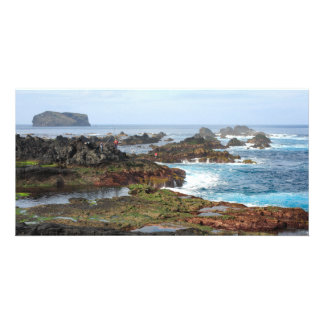 Seascape from Azores islands Card