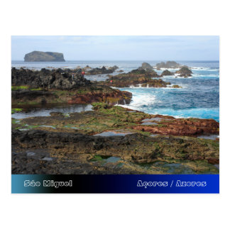 Seascape from Azores islands Postcard
