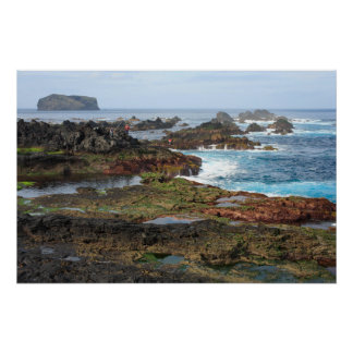 Seascape from Azores islands Poster