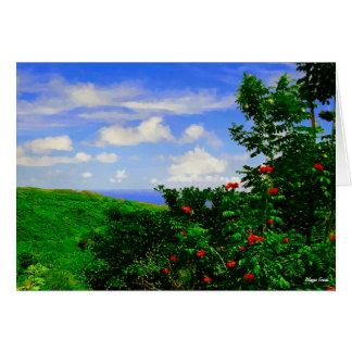 Seascape - Hana Road - Island of Maui - Hawaii Card