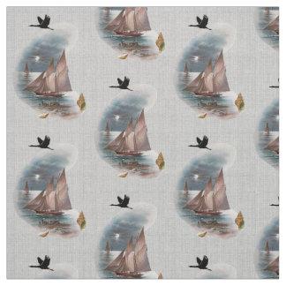 Seascape In Moonlight Fabric