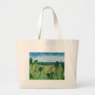 Seascape Large Tote Bag