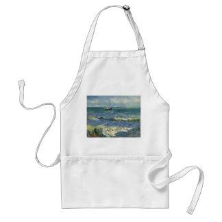 Seascape Les Saintes-Maries-de-la-Mer by Van Gogh Adult Apron