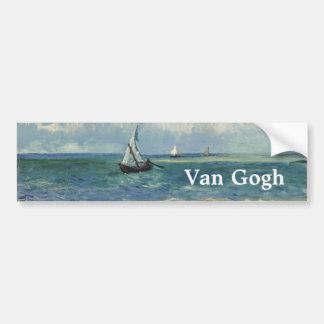 Seascape Les Saintes-Maries-de-la-Mer by Van Gogh Bumper Sticker