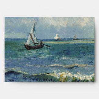 Seascape Les Saintes-Maries-de-la-Mer by Van Gogh Envelope