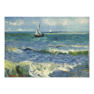 """Seascape Les Saintes-Maries-de-la-Mer by Van Gogh 5"""" X 7"""" Invitation Card"""
