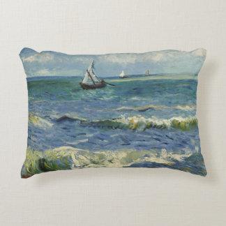 Seascape Les Saintes-Maries-de-la-Mer by Van Gogh Accent Pillow