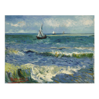 Seascape Les Saintes-Maries-de-la-Mer by Van Gogh Post Cards
