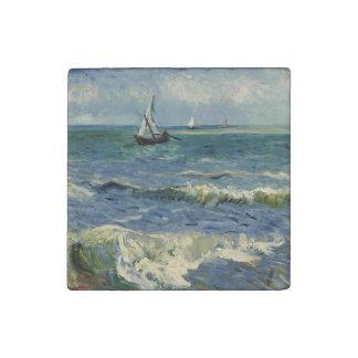 Seascape Les Saintes-Maries-de-la-Mer by Van Gogh Stone Magnet