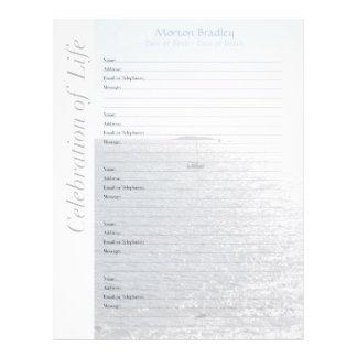 Seascape Memorial Guest Book Binder Filler Pages
