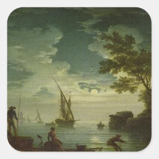 Seascape, Moonlight, 1772 Square Sticker