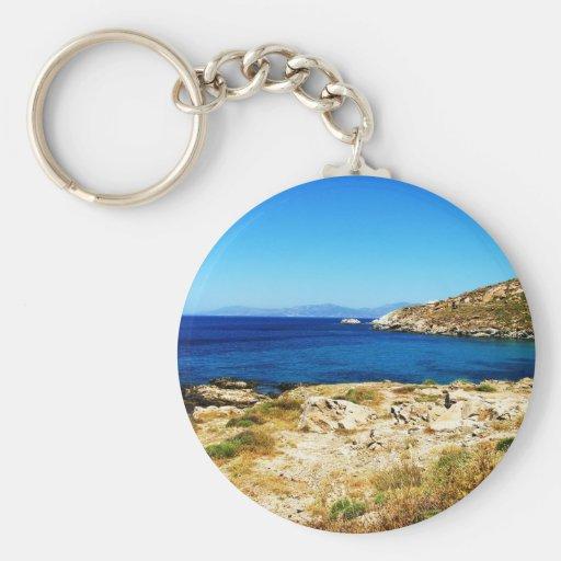 Seascape - Mykonos, Greece Key Chain