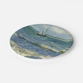 Seascape near Les Saintes-Maries-de-la-Mer Paper Plate