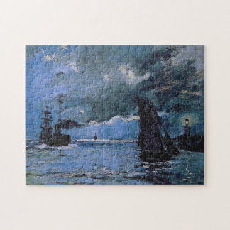 Seascape, Night Effect Monet Fine Art Jigsaw Puzzle