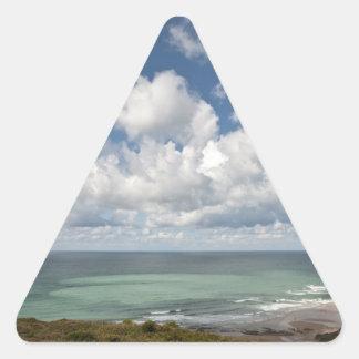 Seascape of the french Atlantic coast Triangle Sticker