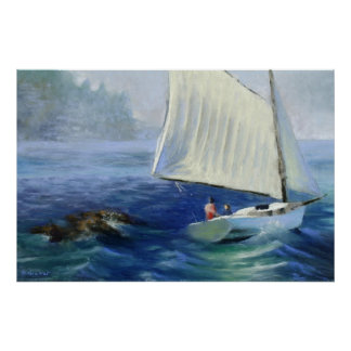 "Seascape Painting: ""Off Mt. Dessert Island"" Print"