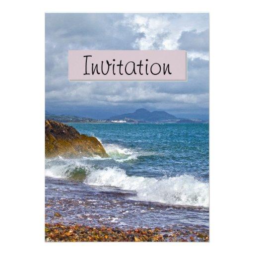 Seascape Party Announcement Invitation