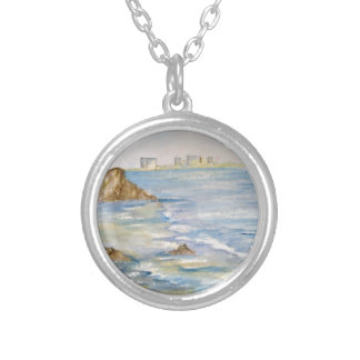 Seascape Round Pendant Necklace