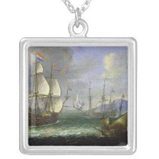Seascape Square Pendant Necklace