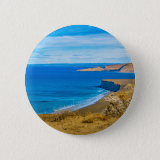 Seascape View from Punta del Marquez Viewpoint Pinback Button
