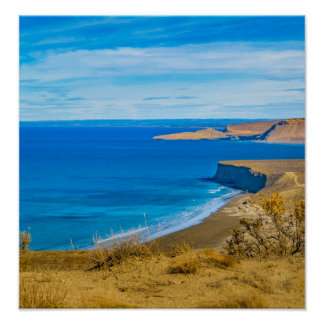 Seascape View from Punta del Marquez Viewpoint Poster