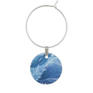 Seascape Wine Glass Charm
