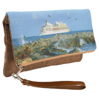 Seascape with Cruise Ship Clutch