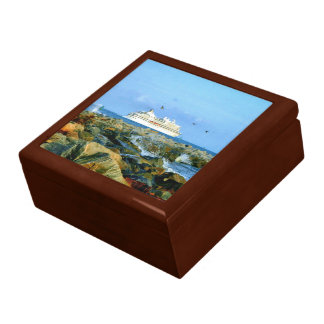 Seascape with Cruise Ship Keepsake Box