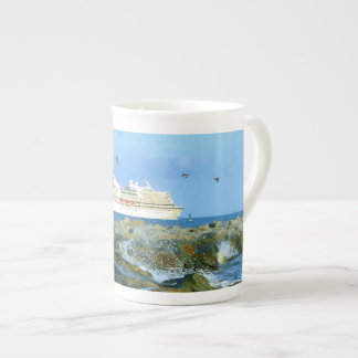 Seascape with Cruise Ship Tea Cup