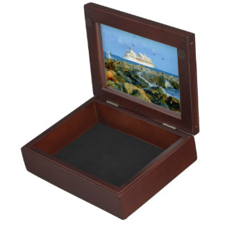 Seascape with Luxury Cruise Ship Memory Box