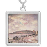 Seascape with ponies on the beach pendant
