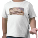 Seascape with ponies on the beach t shirts