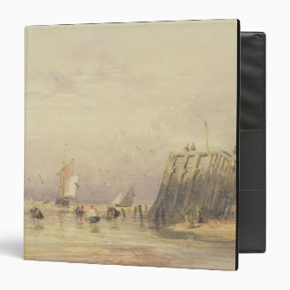 Seascape with Sailing Barges and Figures Wading Of Binder