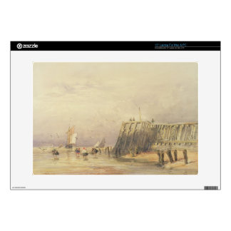 Seascape with Sailing Barges and Figures Wading Of Laptop Decal