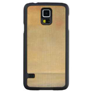 Seascape with Tranquil Orange Sunset Carved Maple Galaxy S5 Slim Case
