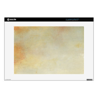 "Seascape with Tranquil Orange Sunset Decal For 15"" Laptop"