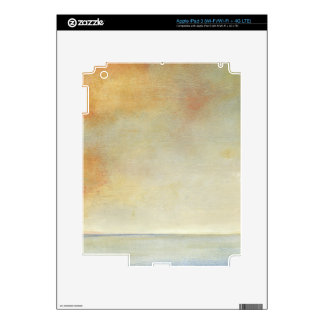 Seascape with Tranquil Orange Sunset Decals For iPad 3