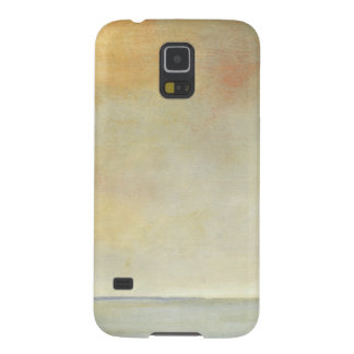 Seascape with Tranquil Orange Sunset Galaxy S5 Cover