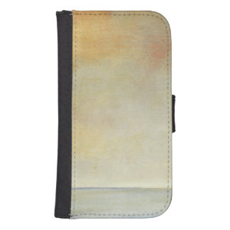 Seascape with Tranquil Orange Sunset Phone Wallet