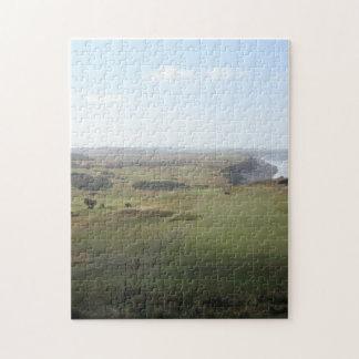 Seascape with view over golfcourse landscape photo puzzle