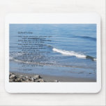 Seascape with waves and poem mousepads