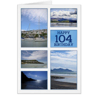 Seascapes 104th birthday card
