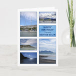 """Seascapes birthday card for brother-in-law<br><div class=""""desc"""">A birthday card for a wonderful brother-in-law. A collection of seascapes and seaside images. Beaches and boats with beautiful scenery. A modern take on a traditional look. Inside the card is a lovely verse. Copyright Norma Cornes</div>"""