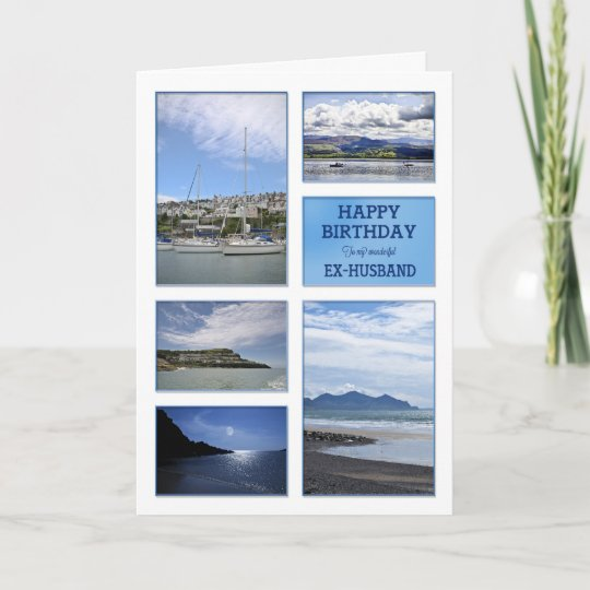 Seascapes Birthday Card For Ex Husband