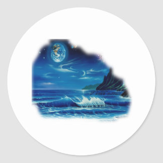 Seascapes Collection by FishTs.com Classic Round Sticker