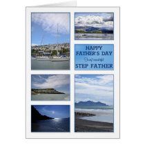 Seascapes Father's Day card for step father